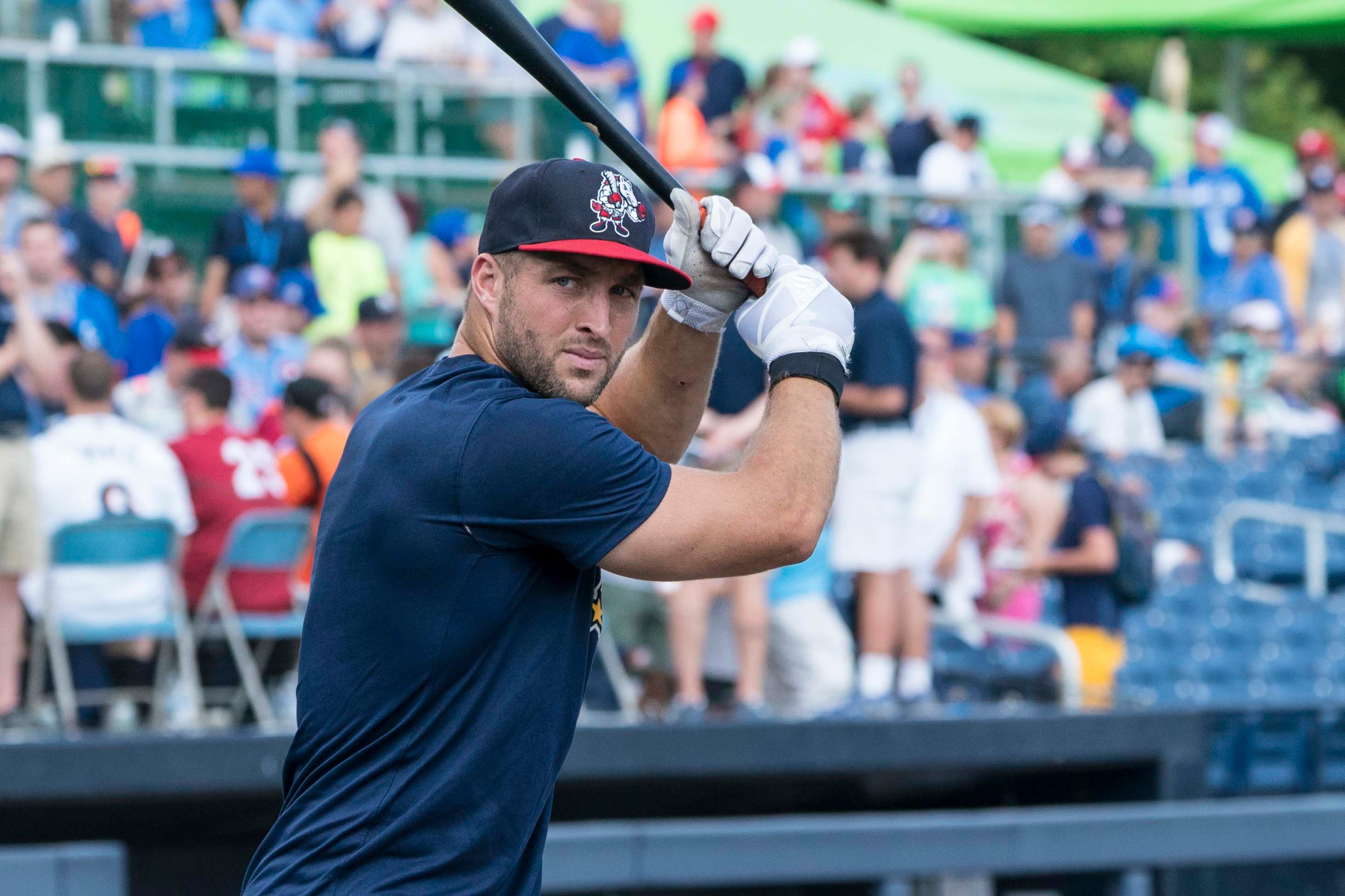 Tebow batted .273 in 84 games with Class AA Binghamton in 2018.