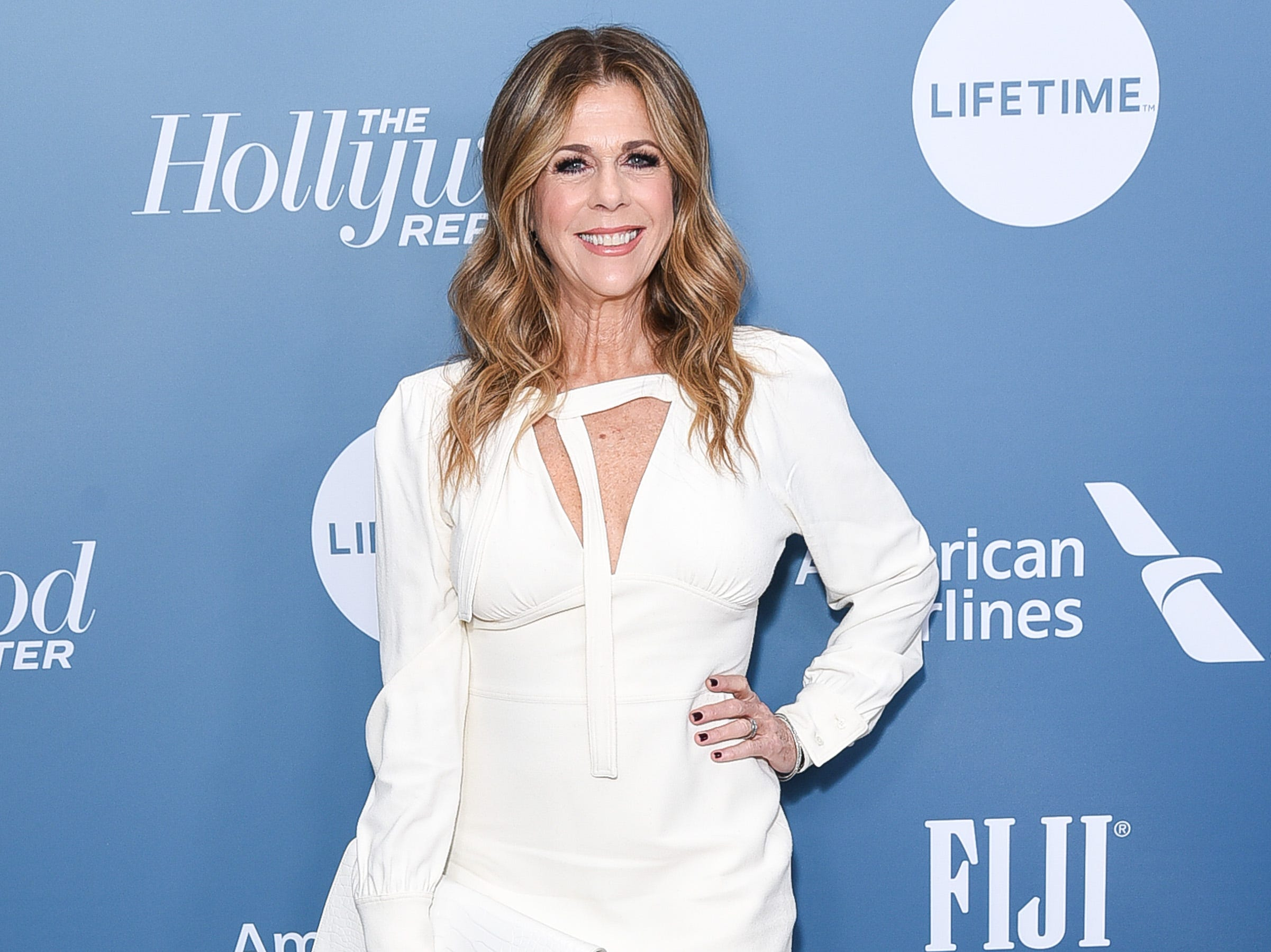 LOS ANGELES, CALIFORNIA - DECEMBER 05: Rita Wilson attends The Hollywood Reporter's Power 100 Women In Entertainment at Milk Studios on December 05, 2018 in Los Angeles, California. (Photo by Presley Ann/Getty Images) ORG XMIT: 775264723 ORIG FILE ID: 1077829220