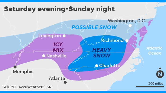 Winter storm: Snow, ice could make mess of flights this weekend