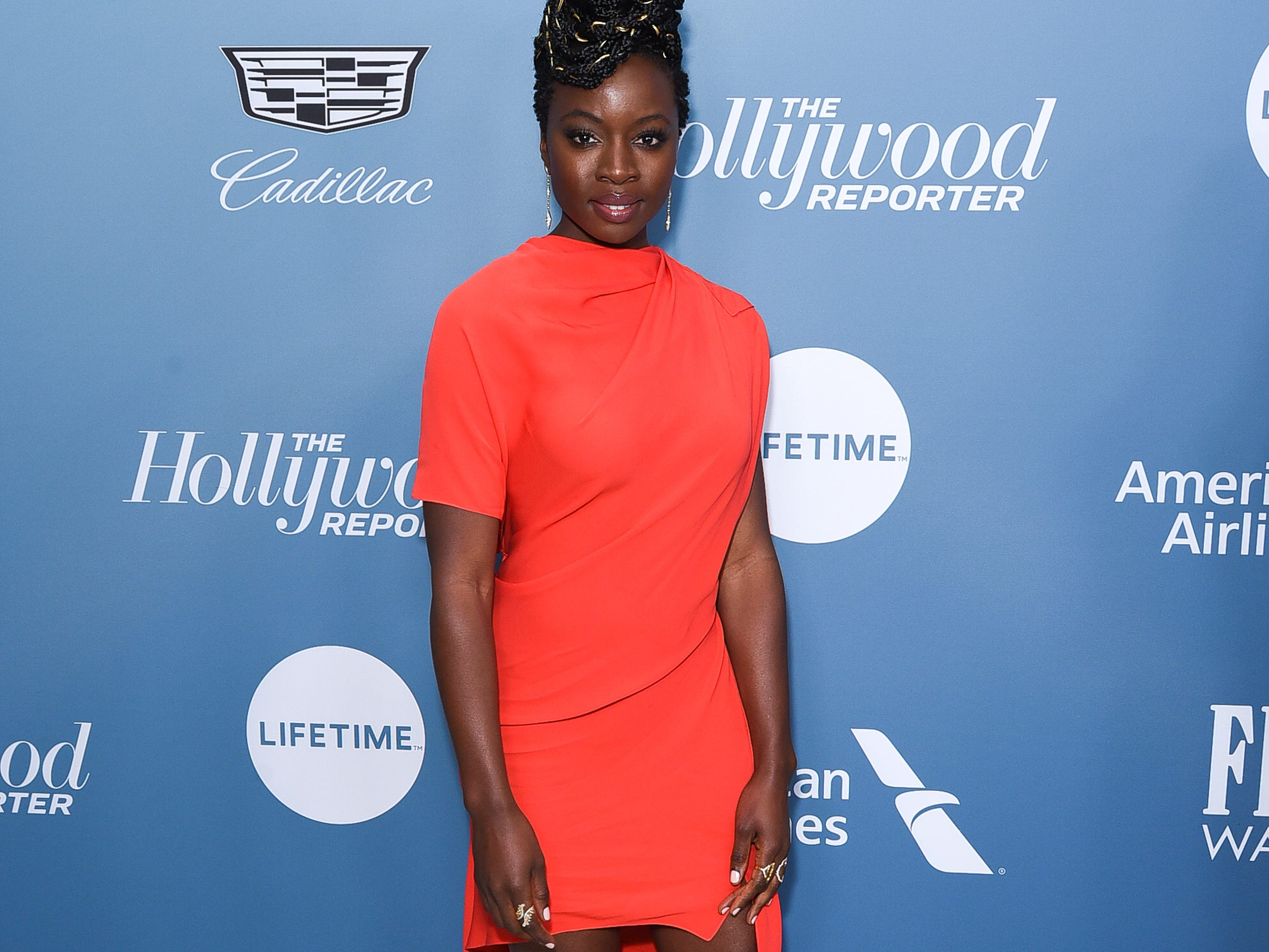LOS ANGELES, CALIFORNIA - DECEMBER 05: Danai Gurira attends The Hollywood Reporter's Power 100 Women In Entertainment at Milk Studios on December 05, 2018 in Los Angeles, California. (Photo by Presley Ann/Getty Images) ORG XMIT: 775264723 ORIG FILE ID: 1077814050