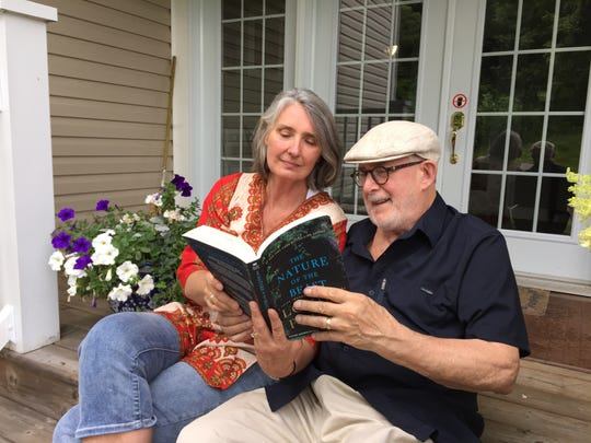 Louise Penny with her husband, Michael Whitehead, who died in 2016.