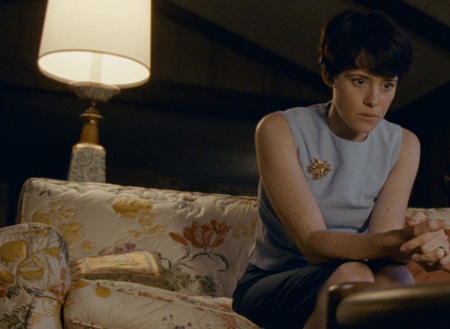 CLAIRE FOY as Janet Armstrong in First Man, directed by Oscar¨-winning filmmaker Damien Chazelle (La La Land).