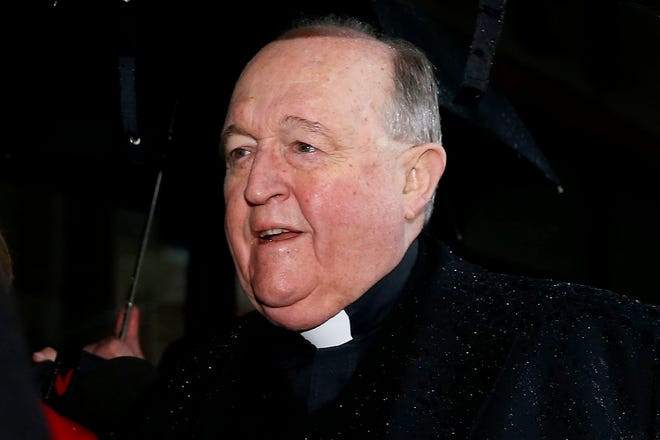 Adelaide Archbishop Philip Wilson arrives at Newcastle Local Court, in Newcastle, New South Wales, Australia, 19 June 2018.