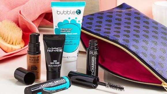 Get five samples and a glam bag for just $10.