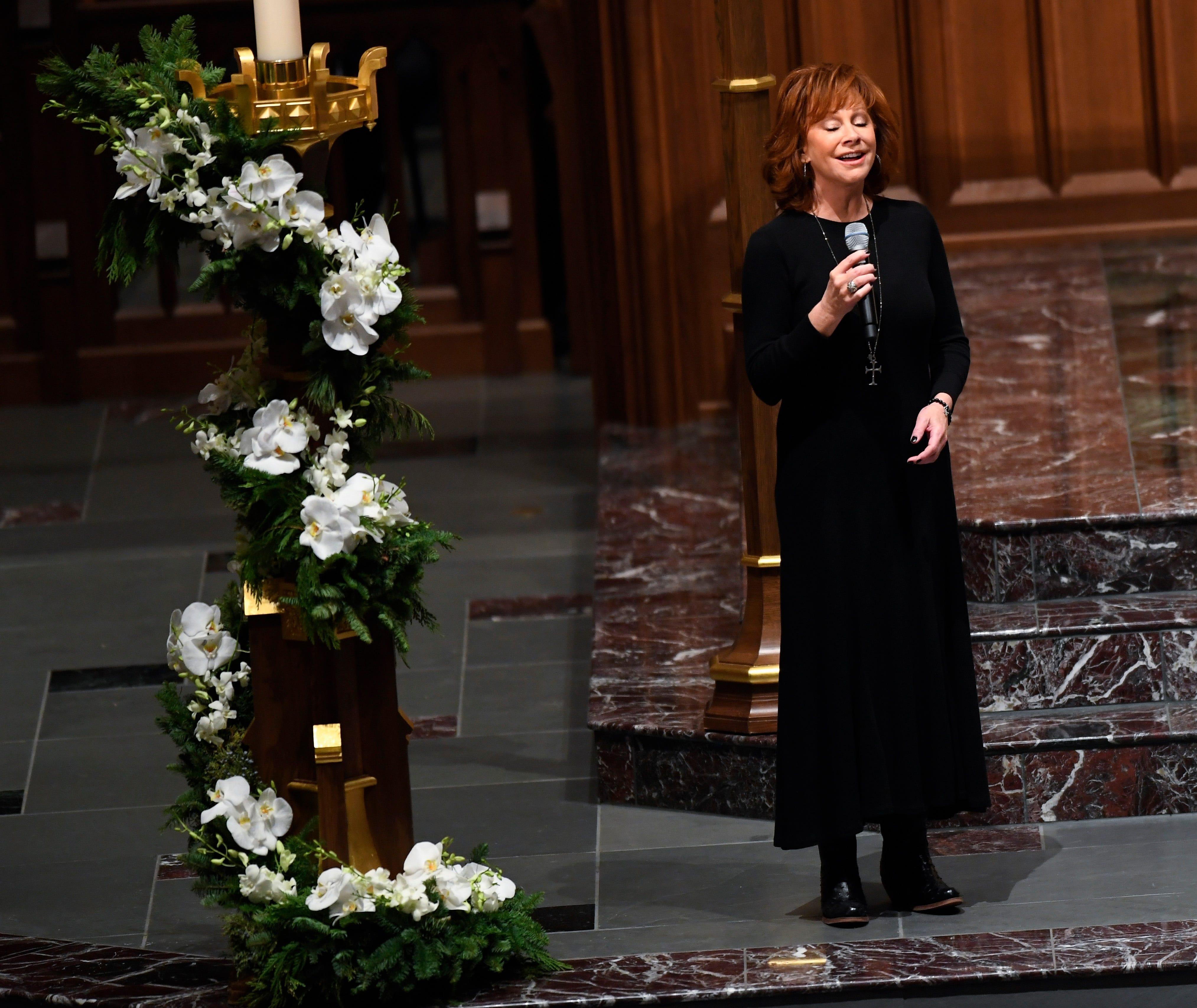 George H.W. Bush funeral: Oak Ridge Boys, Reba McEntire pay tribute with classic songs