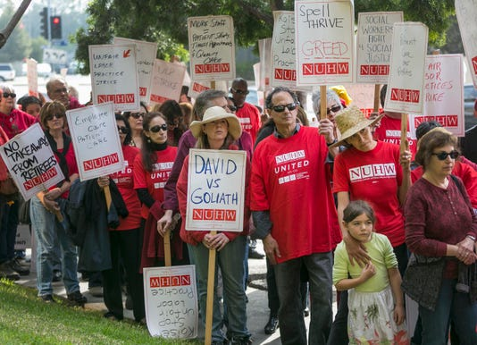 Kaiser Permanente strike: Mental health workers walk out in