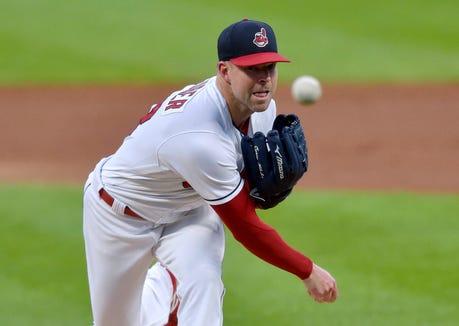 Indians starting pitcher Corey Kluber could be on the trade market this winter.