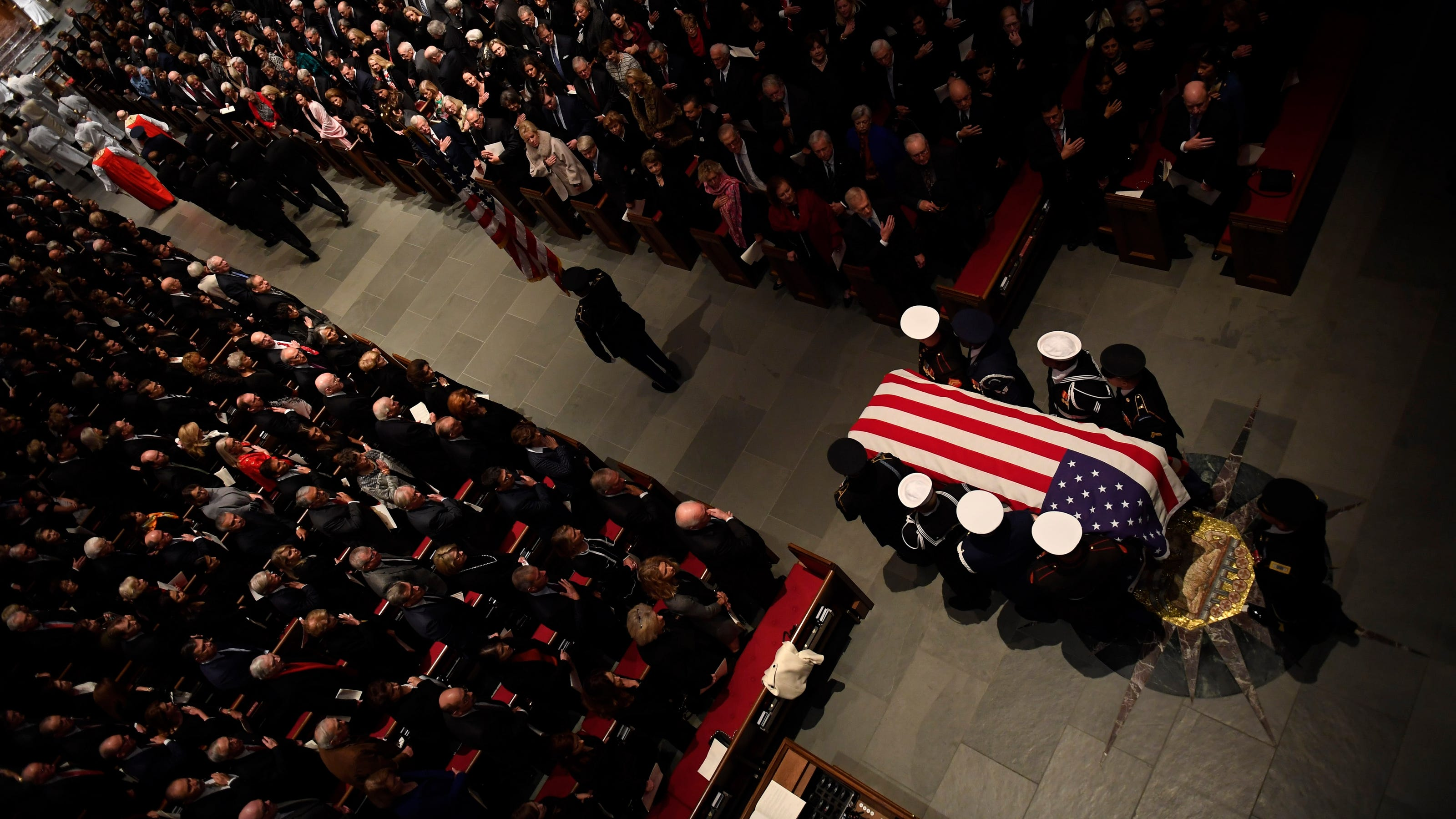 George H W Bush Funeral At St Martin S Church Burial In Texas