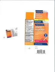 InfantIbuprofen liquid destined to be soldat several national retailers may contain ahigherconcentrationof ibuprofen, leading to potential risks in some infants, according to a Wednesday voluntary recall notice.