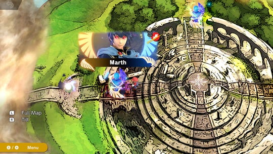 "The map in ""World of Light"" in the ""Super Smash Bros. Ultimate"" video game."