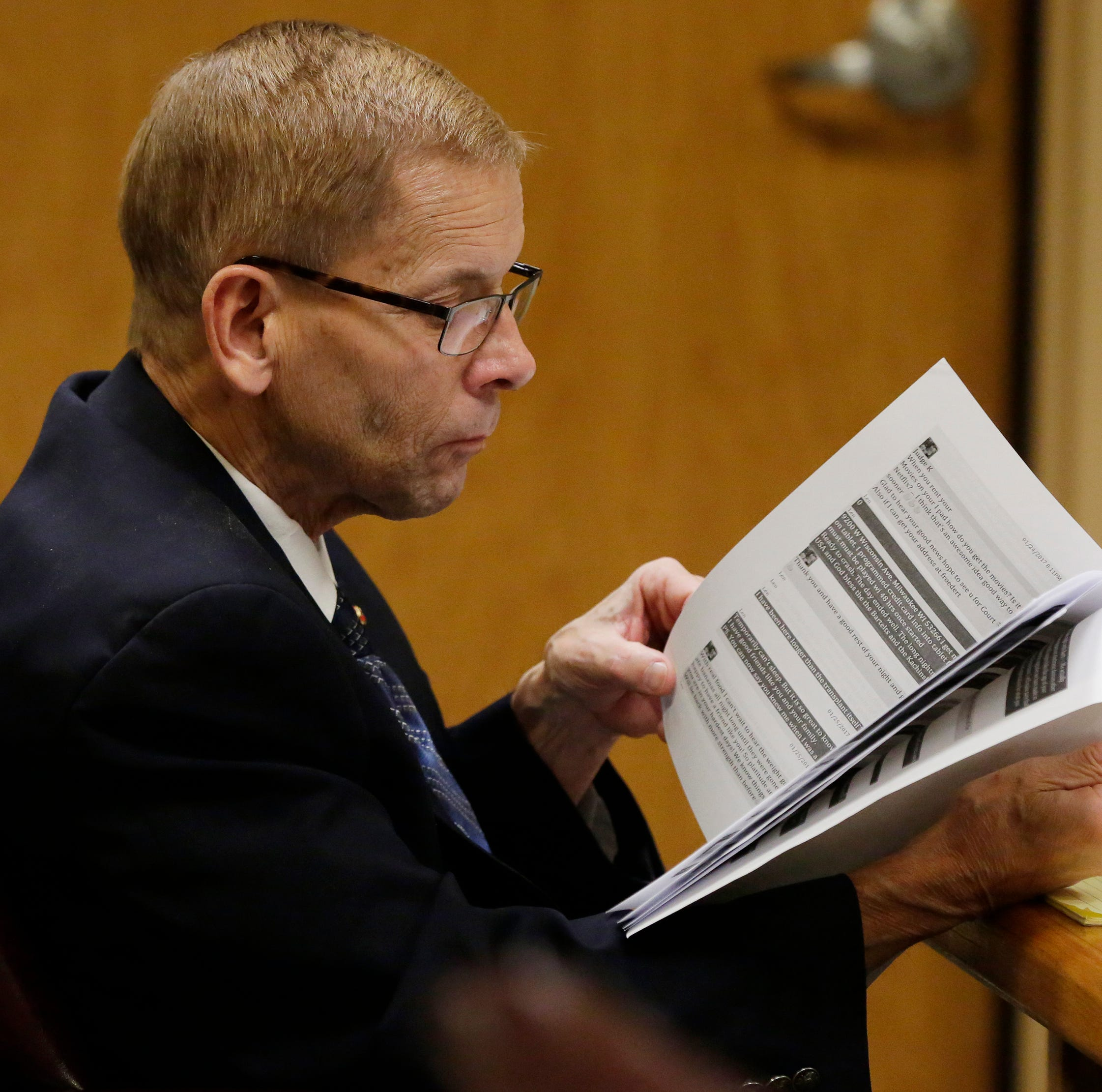 Jury will return Monday in stalking trial of Fox Crossing Municipal Judge Len Kachinsky