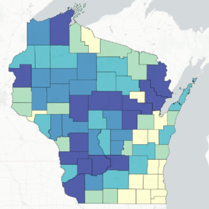 Map: Where Wisconsin hunters registered the most bucks this year