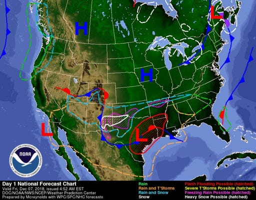Weather Map Of New Mexico.Nj Weather No Snow But A Cold Weekend Ahead