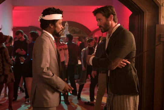 "Lakeith Stanfield as Cassius Green, left, and Armie Hammer as Steve Lift star in Boots Riley's ""Sorry to Bother You,"" an Annapurna Pictures release."