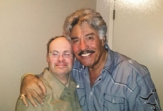Billy Eichele (left) with singer Tony Orlando in an undated photo.