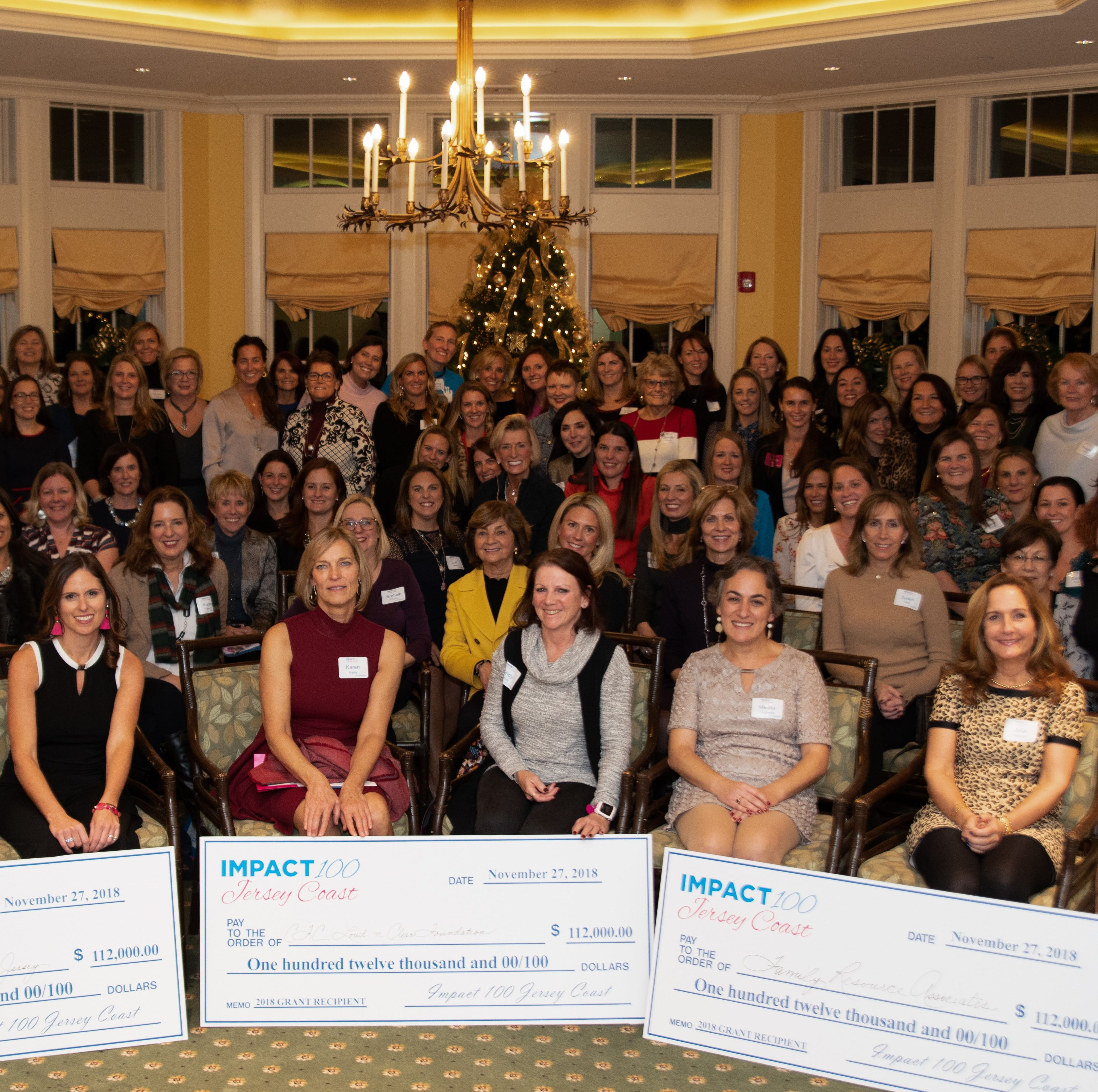 The Impact 100 Jersey Shore membership banquet, Nov. 27, 2018, at the Navesink Country Club. The group awarded three grants of $112,000 each to three non-profits.