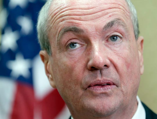 New Jersey Gov.-elect Phil Murphy speaks during a news conference in Newark, N.J., Monday, Nov. 13, 2017. Murphy was with Democratic congressman from New Jersey to voice their opposition to the tax reforms being pushed by the Trump administration. (AP Photo/Seth Wenig)