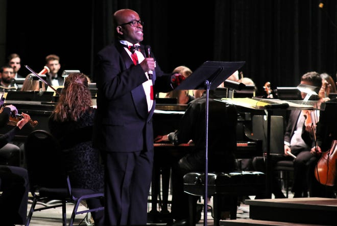 Samuel Cook, artist-in-residence at Abilene Christian University and previous Abilene Philharmonic Orchestra guest artist, was a last-day substitute for holiday show artist Bruce Ewing.