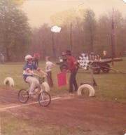 This undated photo from the 1970s shows Ron McDonald winning a BMX event in Battle Creek.