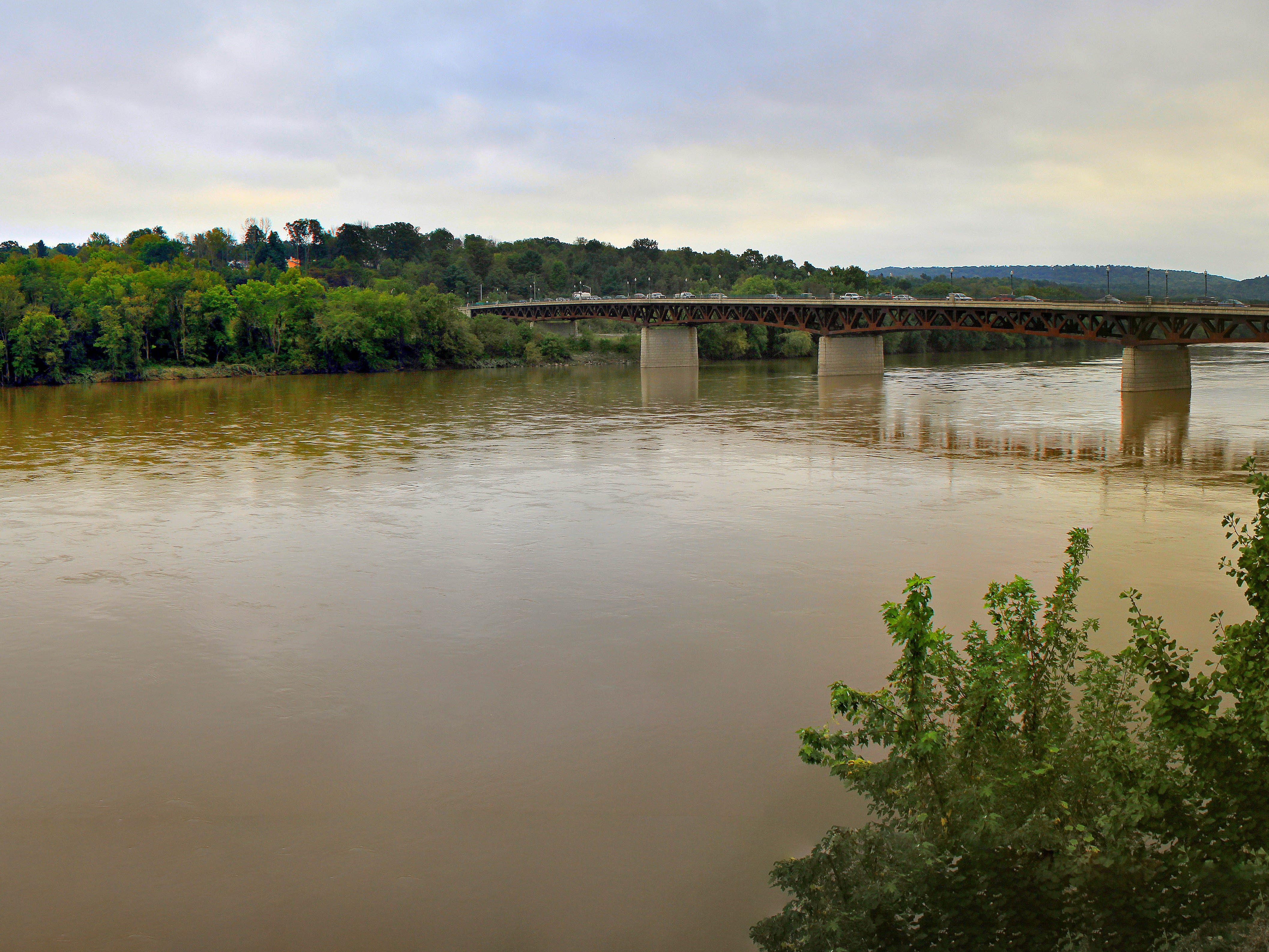 The view of the Susquehanna River from the Owego Gateway Building in Sept. 2018.