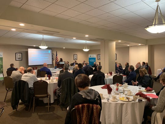 The Greater Binghamton Chamber of Commerce held its Eggs and Issues event on housing Friday morning.