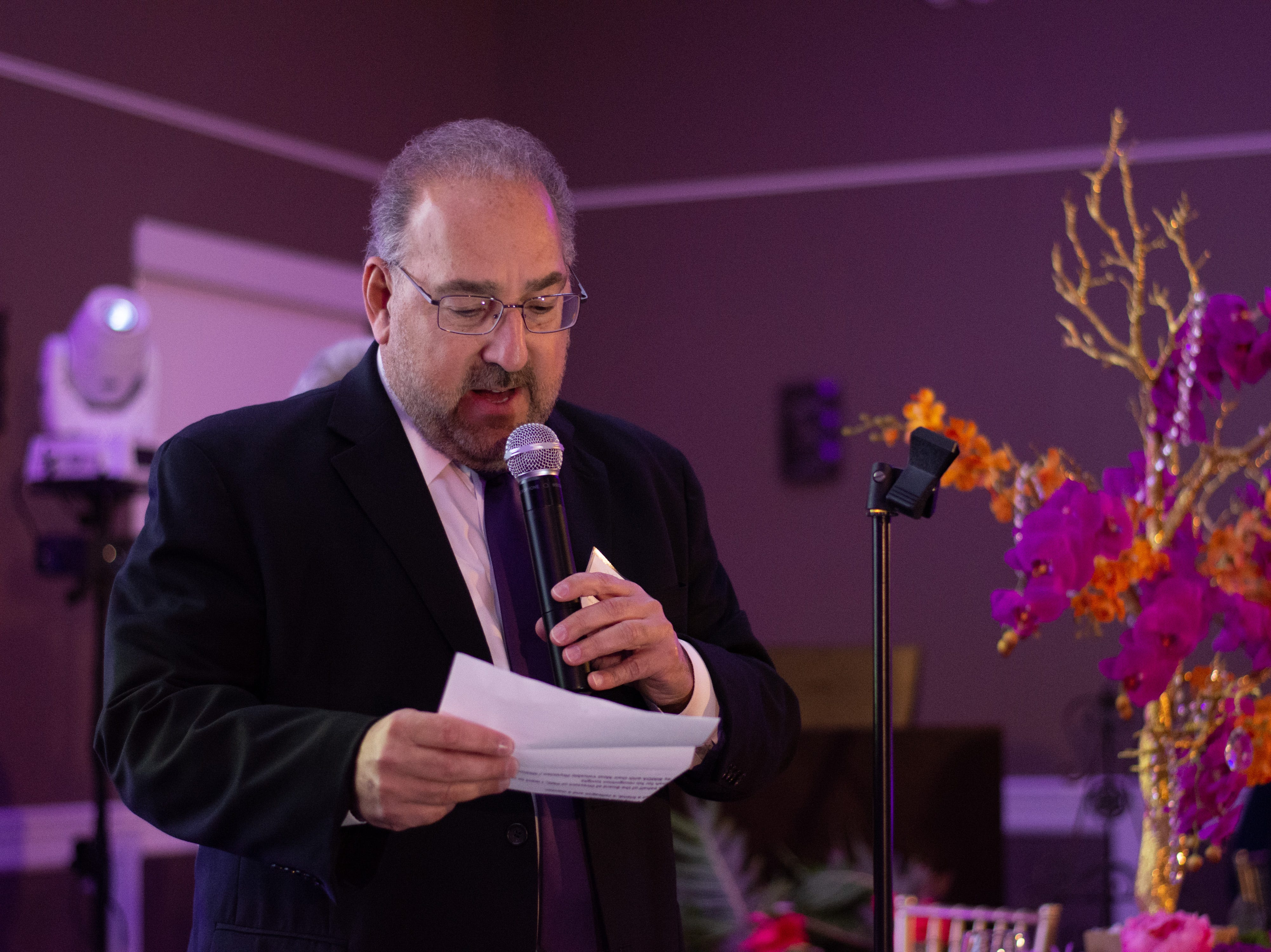 Parrish Medical Center Chief Executive Officer George Mikitarian speaks during the ceremony.