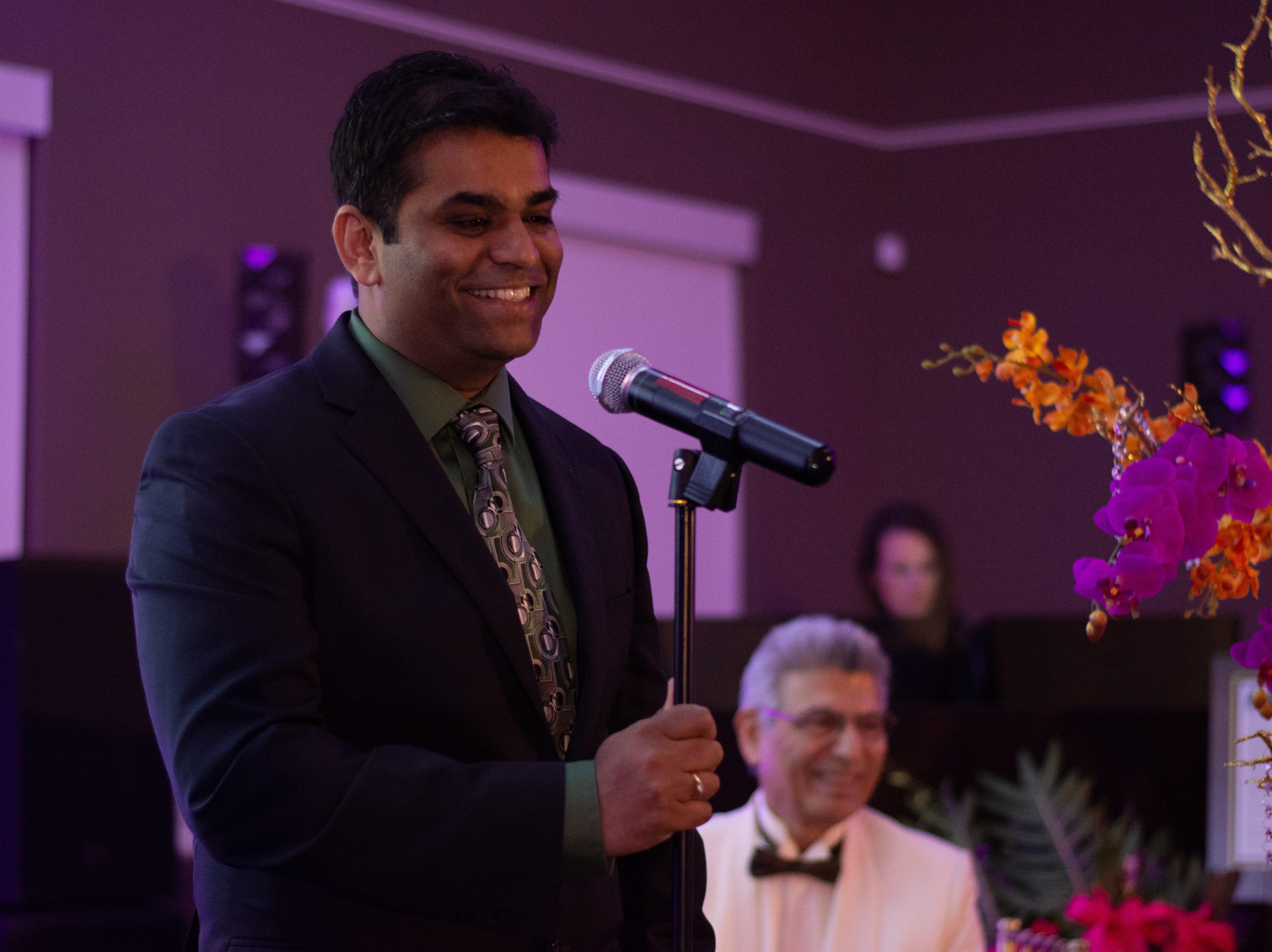 Bimda 2018 president Dr. Pavan Kancharla speaks during the opening ceremony.