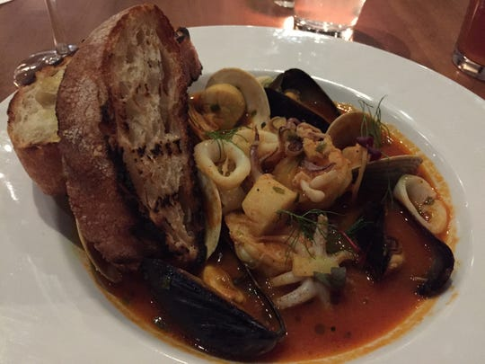 Cioppino served at Sorriso Bistro in South Burlington on Dec. 6, 2018.