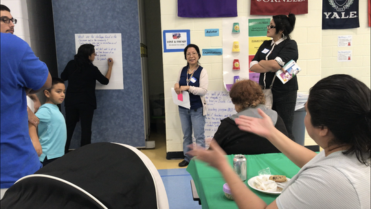 Zavala Elementary employees and parents, with the help of the American Federation of Teachers, gathered more than 250 community members to discuss implementing the community schools model.