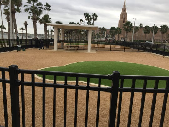 Corpus Christi's bayfront dog park is two-tenths of an acre. Thirteen of them would fit in Portland's dog park and 12 would fit in a dog park planned for Padre Island.