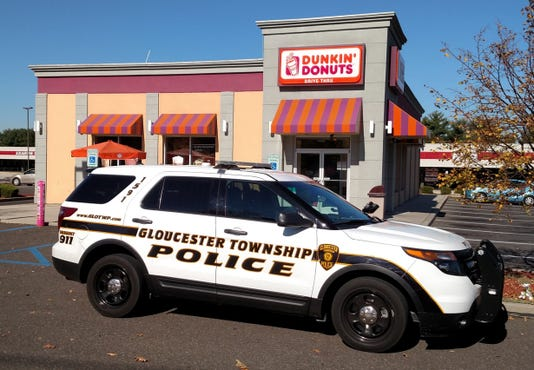 Gloucester Township police at Dunkin Donuts