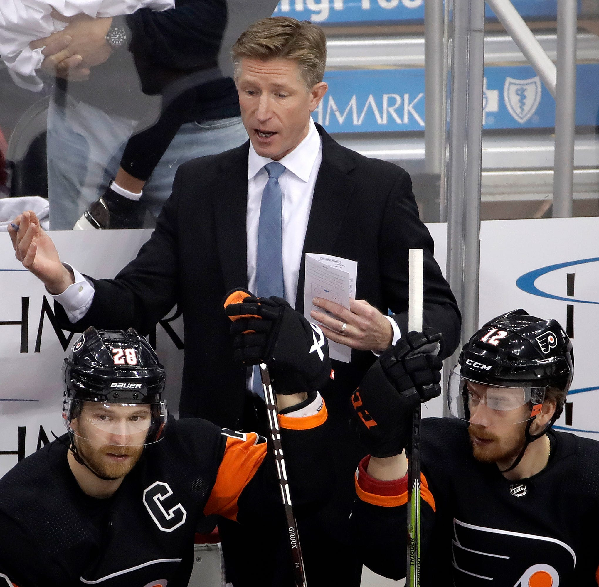 Chuck Fletcher's Flyers start a road trip where jobs are on the line