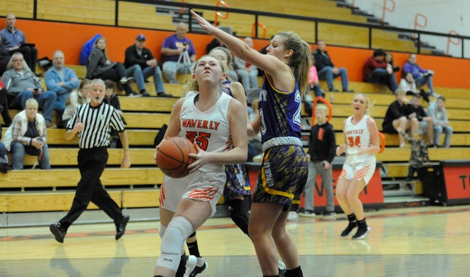 Waverly High School girls basketball lost to Wheelerburg 49-40 on Monday despite Paige Carter's 55 rebounds.
