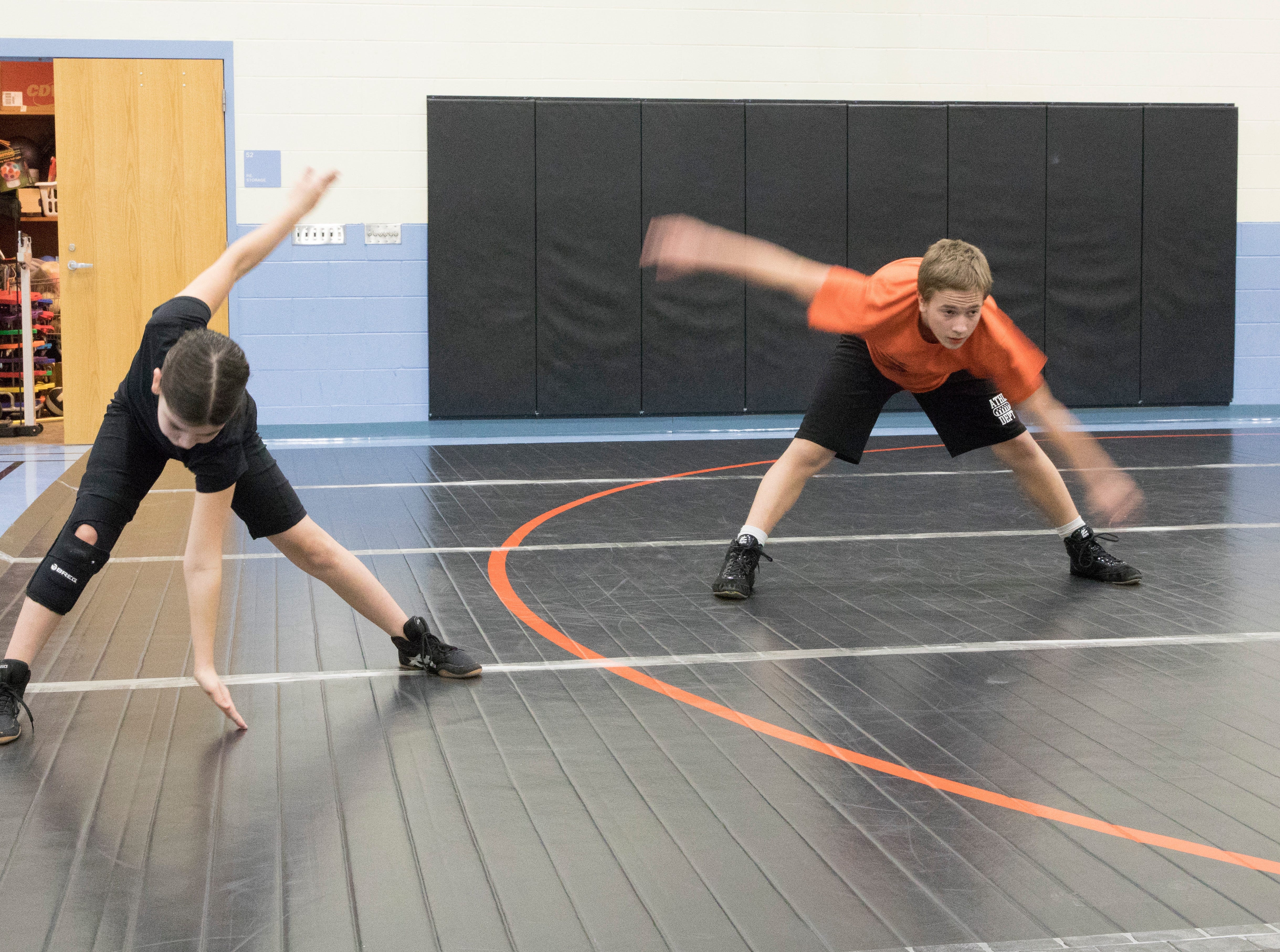 Coach Scott Green heads up the Waverly Tigers' first year wrestling program with almost 40 kids participating.