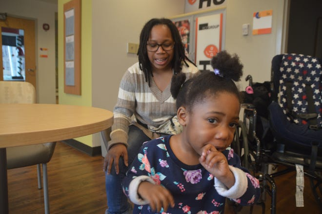 Bryce Foster's life changed earlier this year when her 3-year-old daughter was diagnosed with a gene disorder. The single mother is seeking a vehicle through United Way and The Enquirer's Wish List program to travel to frequent medical appointments at Cincinnati Children's Hospital Medical Center, where she sometimes waits for rides for hours.