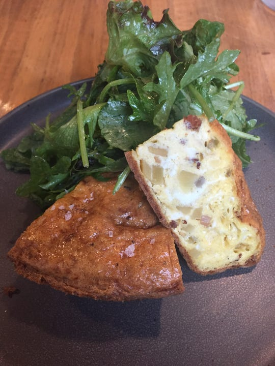 Frittata, on the menu for lunch at 8th and English