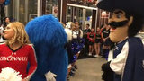 More Skyline Chili Crosstown Shootout  hype from VIP party with Xavier's Travis Steele, XU/UC guests with Scott Springer