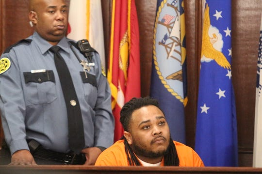 Cedrick Stacker took the stand to ask for bond at a preliminary hearing Dec. 7, 2018.