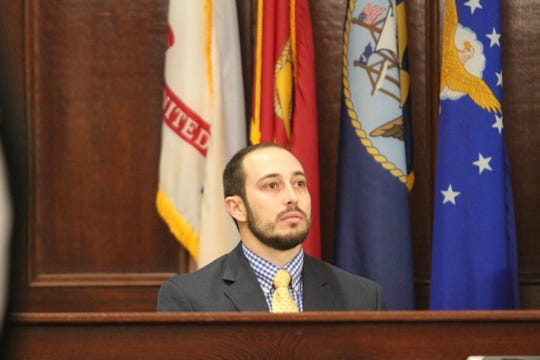 CPD Detective Chris Cunningham testifies about the shooting death of Antorius Gallion at a preliminary hearing for Cedrick Stacker, Dec. 7, 2018.