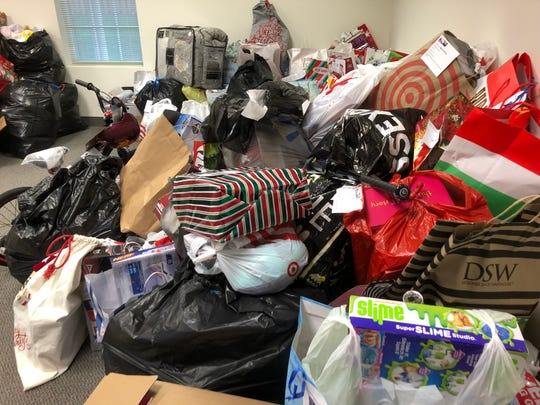 Mound of donated gifts will be sorted and organized by hundreds of volunteers  next week for distribution in the United Way of Northern New Jersey Gifts of the Season program.