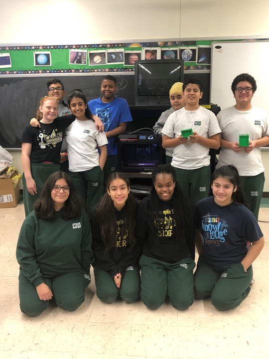 The Class of 2019 at St. Joseph School in Carteret recently created picture frames using a MakerBot 3-D printer.