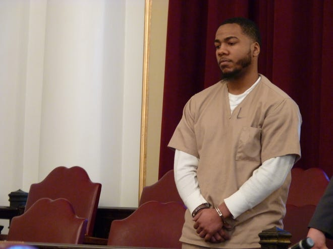 Nathaniel Young Jr., of Rahway, on the day of his sentencing for murdering an Edison taxi driver.