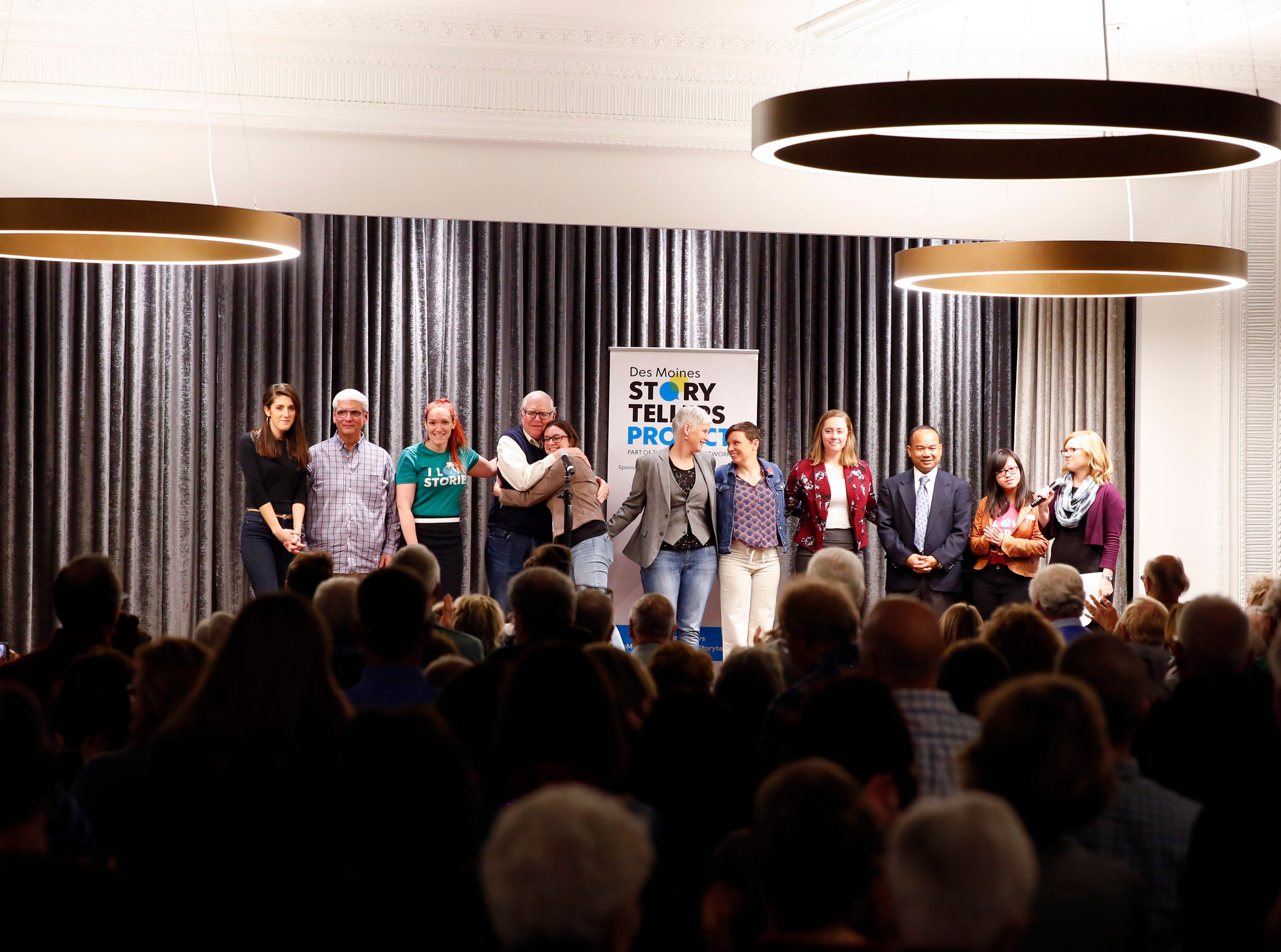 "Speakers and coaches take the state at the Des Moines Storytellers' ""War Stories: Battles on the frontline and back home"" at the Tea Room Thursday, Dec. 6, 2018."