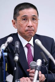 Nissan Motor's CEO Hiroto Saikawa speaks during a press conference at Nissan's headquarters in Yokohama, near Tokyo in November 19, 2018.