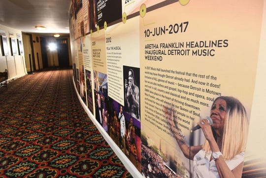 The Hall of Decades is a new addition in the Detroit Music Hall.