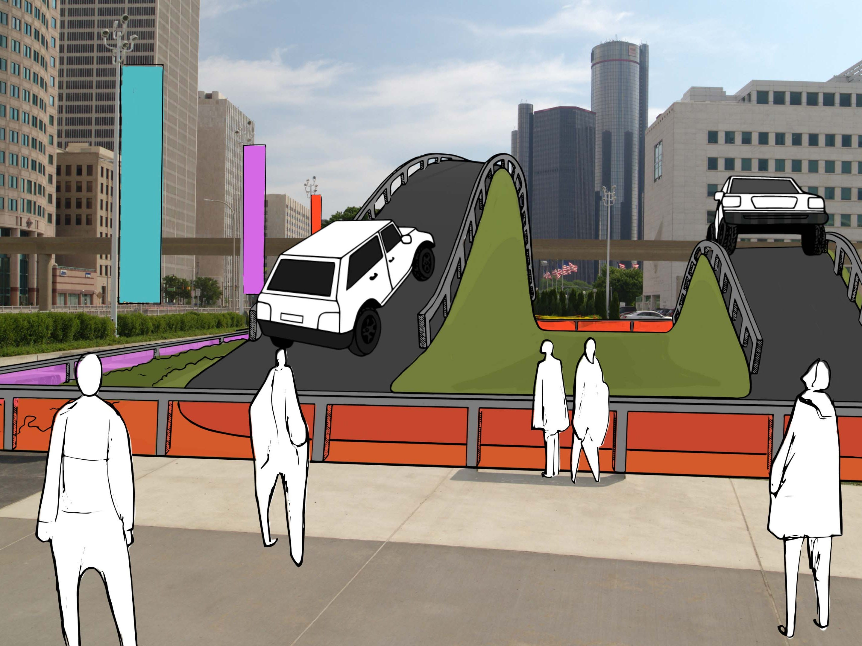 The 2020 Detroit Auto Show will feature experiential displays where attendees can test new cars along the Detroit waterfront.
