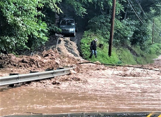 Henry Hill Lane in New Albany is among several Bradford County roads hit hard by August flooding.