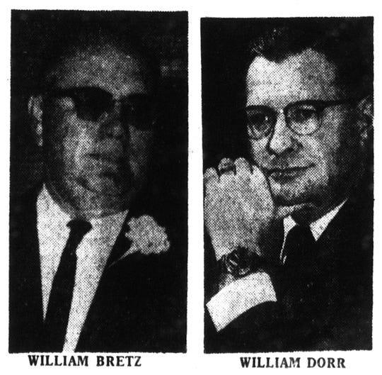 Photo pilot William B. Dorr and Santa stand-in William C. Bretz who died in a helicopter crash in North Park Dec. 8, 1967.