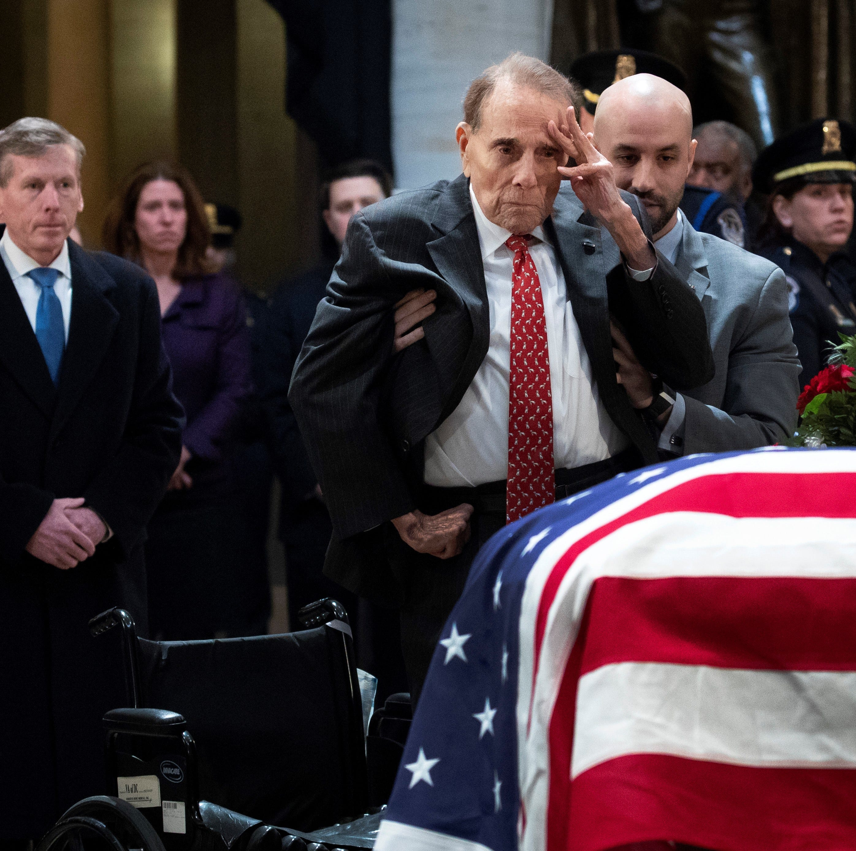 Bob Dole's casket salute was inspiration to us all: your say