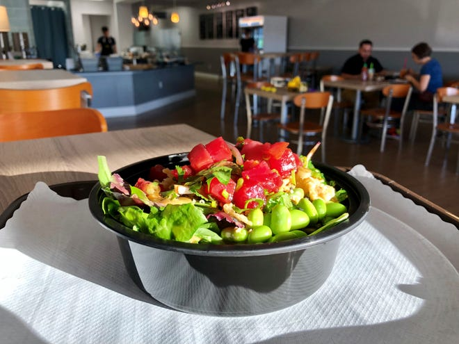 A signature poke bowl from PokeBowl Cafe. The restaurant took over the former PrimoHoagies space in November.